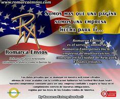 ¡Mas que una Pagina Somos una Empresa Hecha para Ti! #RomarcaEnvios #VenezolanosEnElExterior #EnvioDeDinero