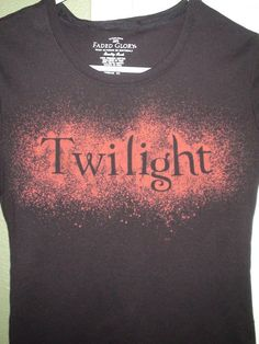 """technique  """"Faded Erosion"""". The title Twilight shows up in red against the black."""