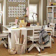 I would die to have this room- deticated all to homework!