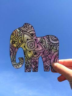Elefante de zentangle art