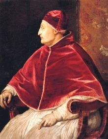 Pope Sixtus IV, born Francesco della Rovere , 1414-1484 Posthumus portrait by Titian. Sixtus IV sponsored the building of the Sistine Chapel (It takes its name from him- Sisto in Italian), and re-founded, enriched and enlarged the Vatican Library, one of the oldest in the world.