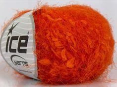 ice yarns eylul slub eyelash type yarn. fancy orange soft by yarniness, $6.00