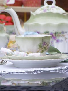 vintage china from the swoon bakery