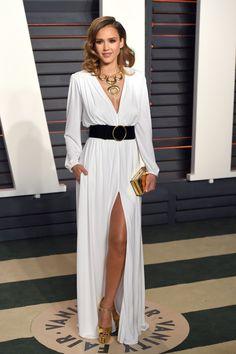 Jessica Alba in Roberto Cavalli at the Vanity Fair Oscars Party