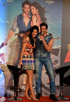 Hrithik Roshan and Katrina Kaif at the launch of 'Bang Bang' title track.