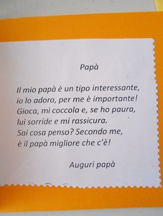 Filastrocca papà Projects For Kids, Diy For Kids, Crafts For Kids, Daddy Day, Italian Language, Fathers Day Crafts, Learning Italian, Mothers Day Cards, Preschool Crafts
