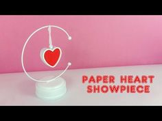 DIY Paper Heart Showpiece, How to Make A Paper Heart Showpiece. Friends, In this video I would like to show how I made a paper heart showpiece for your showcase or desk. You can also make this showpiece as a gift for your beloved ones. Diy Gift Box, Paper Gift Box, Easy Diy Gifts, Diy Crafts For Gifts, Box Birthday, Birthday Explosion Box, Explosion Box Tutorial, Gift Boxes With Lids, Newspaper Crafts