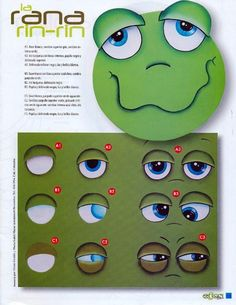 For more photos, how to draw eyes and face dolls and baby animals - Fair Masters - handmade, handmade One Stroke Painting, Painting Tips, Painting & Drawing, Craft Eyes, Frog Eye, Clay Pot Crafts, Cartoon Faces, Face Design, Copics