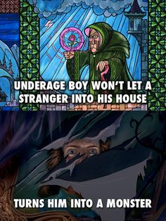 The Enchantress From Beauty & the Beast | 11 Disney Characters Who Were Secretly Just The Worst