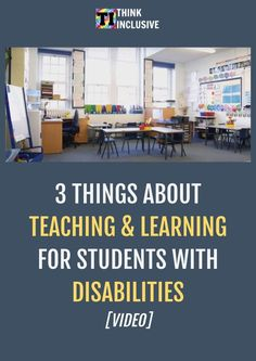 """View this video called """"Three Things About Teaching and Learning for Students with Disabilities."""" Cult Of Pedagogy, Types Of Education, Co Teaching, Dysgraphia, Assistive Technology, Learning Disabilities, Children With Autism, Kids Shows, Disability"""