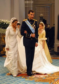 Princess Letizia of Asturias wed Felipe, Prince of Asturias, the heir apparent to the Spanish throne. The wedding took place on May 22, 2004 in the Cathedral Santa María la Real de la Almudena in Madrid.