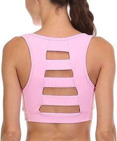 Pink Cutout Sports Bra #zulily #zulilyfinds