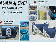 """Kombi-Ebook Tasche """"Adam & Eve""""  groß und klein"""