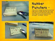 Kindergarten Lifestyle  - FREE math tubs ideas