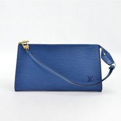 Louis Vuitton Blue Epi Pochette Accessories Bag