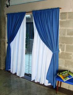 Juego de cortinas de ambiente new liberty color lila - Barra doble cortina ...
