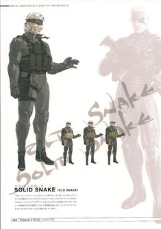 Solid (old) Snake from Metal Gear Solid 4 by Yoji Shinkawa