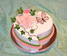 Cake for a loved wife Butterfly Cakes, Desserts, Food, Tailgate Desserts, Deserts, Meals, Dessert, Yemek, Eten