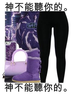 """""""👾"""" by ladiijae ❤ liked on Polyvore featuring UGG Australia and Furla"""