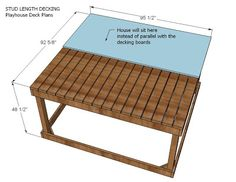 Ana White | Playhouse Deck Options - DIY Projects