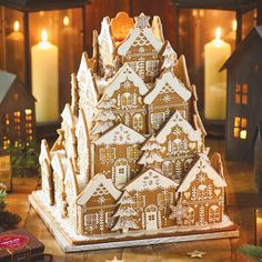 Creating our magical Swiss Alpine Village Christmas Goodies, Christmas Desserts, Christmas Treats, Christmas Baking, Winter Christmas, Christmas Holidays, Christmas Decorations, Xmas, Gingerbread House Designs