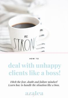 If you have worked for yourself as a freelancer or run a business then you've probably encountered unhappy clients. Ditch the fear, doubt and failure mindset! Learn how to handle unhappy clients like a boss with these 6 simple steps. Unhappy clients tips, entrepreneur tips, girl boss tips. Business Tips, Online Business, Seo Tips, Like A Boss, Girl Boss, Mindset, Entrepreneur, Handle, Female