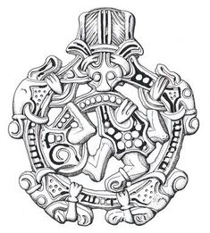 A Borre style Viking pendant from Little Snoring. The same is found in Kaupang (copper)!