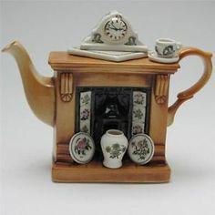 Details about Portmeirion 'Botanic Garden' Fireplace Teapot with Clock ...