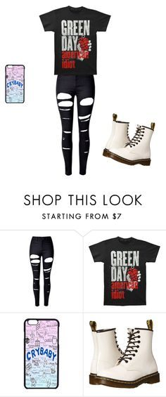 """Listing to Drake lol the shirt doesn't work"" by kaiden-slytherin ❤ liked on Polyvore featuring WithChic and Dr. Martens"