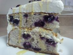 Blueberry cake with cream-cheese frosting