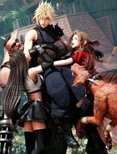 Final Fantasy Girls, Final Fantasy Cloud, Final Fantasy Artwork, Final Fantasy Characters, Final Fantasy Vii Remake, Fantasy Series, Final Fantasy Cosplay, Cloud And Tifa, Cloud Strife