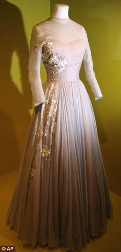 Grace Kelly wore this gown in the film 'High Society'   This was on display at the Grimaldi Forum exhibit. It was later auctioned in New York, for charity, at The Princess Grace Awards, 2007. Designer was Helen Rose.