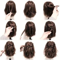 Most up-to-date Photo Luxury Easy Hairstyles For Short Hair To Do Videos At Home Tips Who invented the Bob hair? Bob has been primary the group of tendency hairstyles for decades. No s kurze haare haarband Hairstyles For Medium Length Hair Tutorial, Short Hairstyles For Women, Short Haircuts, Trending Hairstyles, Braided Hairstyles, Cool Hairstyles, Hairstyles Haircuts, Hairstyle Ideas, Gorgeous Hairstyles