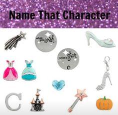 Origami Owl Name the Disney Character- Cinderella