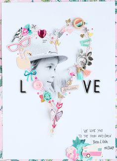 Hallo Ihr Lieben! Mit einem Herzchen-Layout wünsche ich Euch heute einen schönen Valentinstag :)