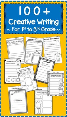 Creative Writing Worksheets for First, Second and Third Grades to stimulate your kids' interest in writing! Creative Writing For Kids, Creative Writing Worksheets, Creative Writing Exercises, Writing Resources, Teaching Writing, Kindergarten Writing, Writing Activities, Writing Tips, Literacy