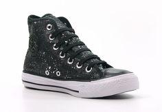 All Star Hi Metallic Sequins Black