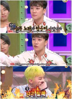 """Mind your own Business"" XD XD Leader-Maknae (GD <3 SR) BIG BANG <3 _ radio star show"