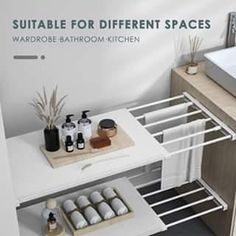 Storage Rack, Storage Shelves, Storage Spaces, Extra Storage, Kitchen Furniture, Kitchen Decor, Furniture Design, Kitchen Grey, Kitchen Pantry Design