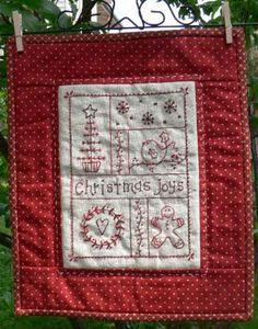 Christmas Joy's - by Gail Pan Designs - Stitchery Pattern