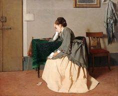 Bartolena, Cesare (b,1830)- Les Mauvaises Nouvelles