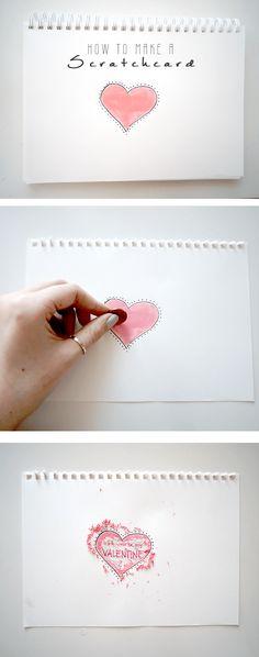 Scratchcard DIY Valentinstag Rubbellos