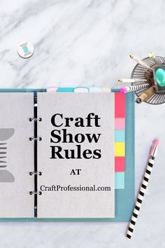 Do you know the most common rules you'll need to follow when you sell at a craft show? Some rules will affect how you can set up your booth. Rules vary from show to show, but these are pretty common across shows - http://www.craftprofessional.com/art-booth.html