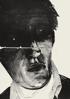 """Head / Patryk Hardziej / Lithograph / edition of 6 / 2013 Arte Horror, Horror Art, Art And Illustration, Creation Art, Creepy Art, Art Sketchbook, Dark Art, Art Inspo, Painting & Drawing"