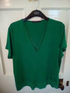 M/&S TEAL Round Neck Swing Ditsy Top size 16 18 20 22