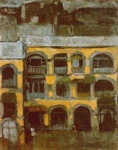 Una casa azul - Pablo Picasso. Expresionismo