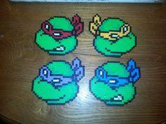 TMNT perler beads by karintel on deviantART
