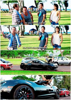 """He Bo and Luke'd that. Sweet.""  hawaii five 0  daniel dae kim  alex o'loughlin  grace park  scott caan  h50: 6x13  omg this child  this is the cutest team in existence  i could watch chin and kono smiling and laughing all day tbh"