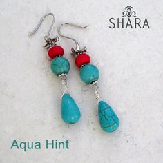 Aqua Hint Earrings