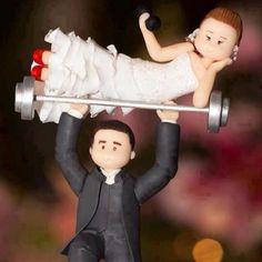 Cake topper per sposi ironici e simpatici.  #wedding #matrimonio
